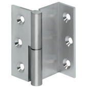 Cranked Angle Cabinet Hinge Right Hand in Nickel Plated Matt, 50mm (2'') H