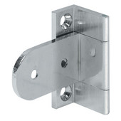 Neuform Cranked Angle Cabinet Hinge in Nickel Plated, 40mm (1-5/8'') H, Door Thickness 19mm - 20mm (3/4'' - 13/16'')