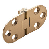 Self-Supporting Cabinet Hinge in Matt Brass, 65mm (2-1/2'') W x 30mm (1-3/16'') H