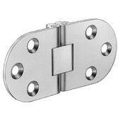 Self-Supporting Cabinet Hinge in Nickel Plated Polished, 65mm (2-1/2'') W x 30mm (1-3/16'') H