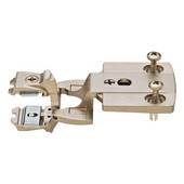 Aximat® 300 TM Institutional Cabinet Hinge 240° Twin Overlay Arm with Expanding 5mm (3/16'') Dowels in Matt Nickel