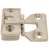 Aximat® 300 230° Inlay Glass To Wood Door Cabinet Hinge in Matt Nickel