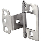 Partial Wrap Non-Mortised Decorative Butt Cabinet Hinge with Ball Finial in Chrome Plated, Overall Height: 63mm (2-1/2'')
