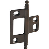 Elite Decorative Non-Mortised Butt Cabinet Hinge with Minaret Finial in Oil-Rubbed Bronze, Overall Height: 75mm (2-15/16'')