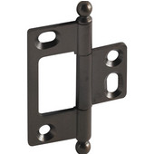 Elite Decorative Non-Mortised Butt Cabinet Hinge with Ball Finial in Oil-Rubbed Bronze, Overall Height: 65mm (2-9/16'')