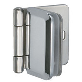 Inset Glass Door Cabinet Hinge in Chrome Plated, 51mm (2'') H
