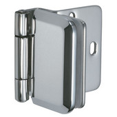 Overlay Glass Door Cabinet Hinge in Chrome Plated, 51mm (2'') H