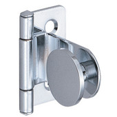 180° Inset Glass Door Cabinet Hinge in Chrome Plated Polished, 38.5mm (1-1/2'') H