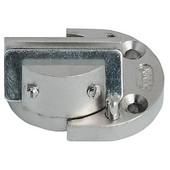 Clarior 95° Glass Door Cabinet Hinge in Nickel Plated Matt, 40mm (1-5/8'') W