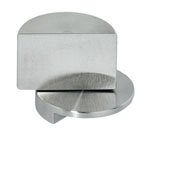Pivot Glass Door Hinge for Glass Constructions, Matt Stainless Steel, 3/4'' Diameter