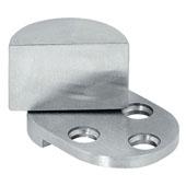 Pivot Glass Door Hinge for Glass/Wood Constructions, Matt Stainless Steel, 3/4'' Diameter