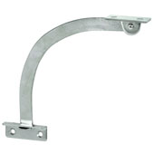 Lid Stay, Door Restraint, Left Hand, 150mm (5-7/8'') Length, Nickel-Plated Steel