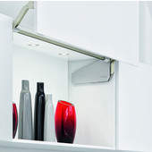 Double Door Lift-up Fitting Lid Stay, Free Fold, J5FO, Gray, 910-970mm Door Height, 15-29.7 lb. Door Weight