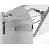 Double Door Lift-up Fitting Lid Stay, Free Fold Short, L6FS, Gray, 1000-1067mm Door Height, 20-35 lb Door Weight