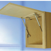 Cabinet Door Swing-up Fittings - E-Z Open - Lid Stay 150 N (33.7 lbs.), Silver, 235mm (9-1/4'') Length
