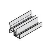 Sliding Door Fittings - EKU Clipo 25 H Individual Component, Double lower guide track, predrilled, Aluminum, 2.5 meters