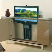 Motorized TV Lift, for Large Flat Panel Screens Up to Size 46'', Steel, Black