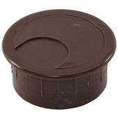 Round Cable Grommet Set, for Office Organization, 2-piece, Brown, 1-7/8'' Hole