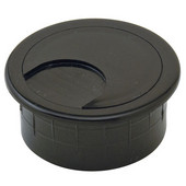 Round Cable Grommet Set, for Office Organization, 2-piece, Black, 1-7/8'' Hole