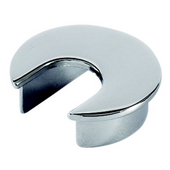 Metal Round Cable Grommet, Zinc, Chrome Polished, 2-1/2'' Hole, 13/16'' x 1-1/8'' Opening