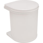 Built-In Waste Bin for Swing Out Behind Door, White, 16 Quart (4 Gallon), Min. Cabinet Opening: 15-3/4'' Wide