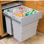 ''Easy Cargo 50'' Double Built-In Pull-Out Waste Bin with Lids, Min. Cabinet Opening: 21'' Wide