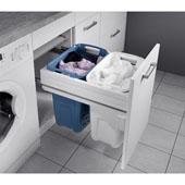 Hailo 45 Full Extension Laundry Hamper w/ Two (2) 35 Qt. Bins & Lid