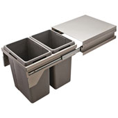 Double Waste Bin Pull-Out with Soft Close, 21 Gallons, Champagne Frame, Min. Cabinet Opening: 19-1/2'' - 20-1/16'' Wide