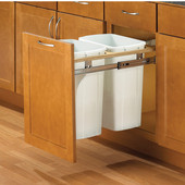 Twin Side Mount Built-In Waste Bins, Available in Multiple Sizes, Min. Cabinet Opening: 15'' Wide