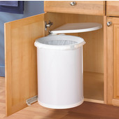 Pivot Out Built-In Waste Bin for Kitchen or Bathroom, 32 Quarts (8 Gallons), Min. Cabinet Opening: 12'' or 12-3/4'' Wide