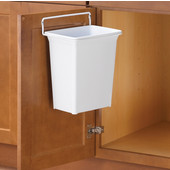 Door Mount White Waste Bin - 9 Quarts (2.25 Gallon), Min. Cabinet Opening: 12'' or 12-3/4'' Wide