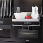 iMove Pull Down Unit, Single Shelf, Silver/Gray, Faceframe or Frameless, For 21'' - 30'' Cabinet Width