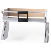 iMove Pull Down Unit, Single Shelf, Silver/Maple, Faceframe or Frameless, For 21'' - 30'' Cabinet Width