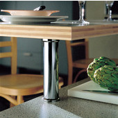 H�fele Plated 90° Countertop Support for Solid Tops, 2'' Diameter x 7-7/8'' H, Available In Multiple Finishes