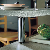 Häfele Plated 90° Countertop Support for Glass Tops, 2'' Diameter x 7-7/8'' H, Available in Multiple Finishes