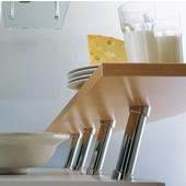Häfele Plated Cantilever 20° Angled Countertop Support for Solid Tops, 2'' Diameter x 7-7/8'' H, Available in Multiple Finishes