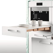 ''Rapid'' Pull-Out Kitchen Table, White, Min Cab Opening: 22-1/8'' x 19-1/4'' D x 4-3/4'' H