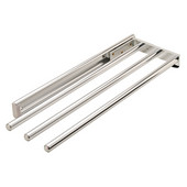 3 Rail Pull-Out Towel Rack, Polished Chrome