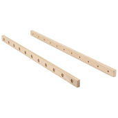 22'' Depth Maple Wood Parallel Rod Bracket in Unfinished Maple, For 11 Wine Parallel Rods