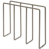 Champagne-Plated Steel Kitchen Cabinet Baking Tray Rack, 3'' W x 12'' D x 10'' H