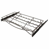 Pull-out Spice Tray, with Full Extension Slides, for 24''W Cabinets, Oil-Rubbed Bronze, Stores 22 spices