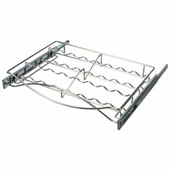 Pull-out Spice Tray, with Full Extension Slides, for 18''W Cabinets, Chrome, Stores 16 spices