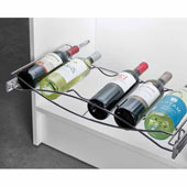 Pull-out Wine Tray, with Full Extension Slides, for 24''W Cabinets, Chrome, Holds 6 Wine Bottles