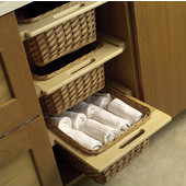 Pull Out Wicket Basket for Framed or Frameless Cabinets, Different Widths Available