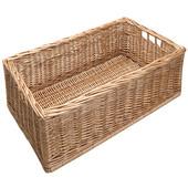 Free Standing Wicker Storage Basket, 11-1/4''W x 21-1/4''D x 7-3/4''H, Min Cab Opening: 11-1/2''W