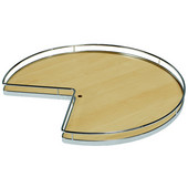 ''Arena Plus'' Shelf Mounted Kidney Lazy Susan (2-Shelf Set), Chrome/Maple, 28'' or 32'' Diameters Available