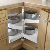 2 Shelf Kidney Lazy Susan 2-Shelf Set in White, 18'' - 32'' Diameters Available