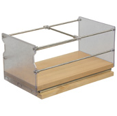 Individual Pull-Out Spice Rack, Birch and Stainless Steel, 5-7/8'' W x 5-3/4'' D x 5-3/4'' H