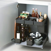Kitchen Tower 600 Base Unit Soft Close Pull-Out, Anthracite, Steel/Plastic, 22-1/8''W, for 24'' Frameless Cabinets