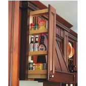 Kitchen Upper Cabinet 6''W x 30''H Wall Filler Pull-Out Organizer, Maple